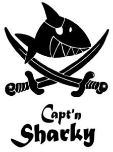 Schriftzug-Sharky